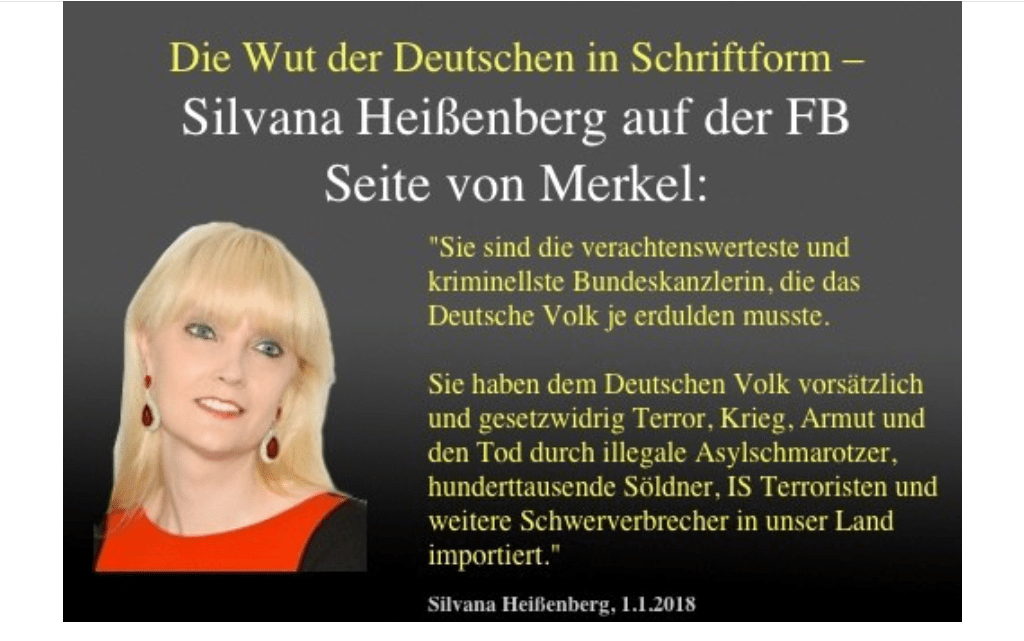 Must Read: Duitse Actrice komt sinds het compleet afmaken van Merkel op Facebook niet meer aan de bak
