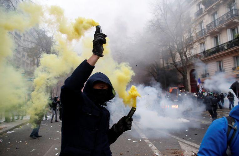 Protesten in Frankrijk het wordt avond en harder