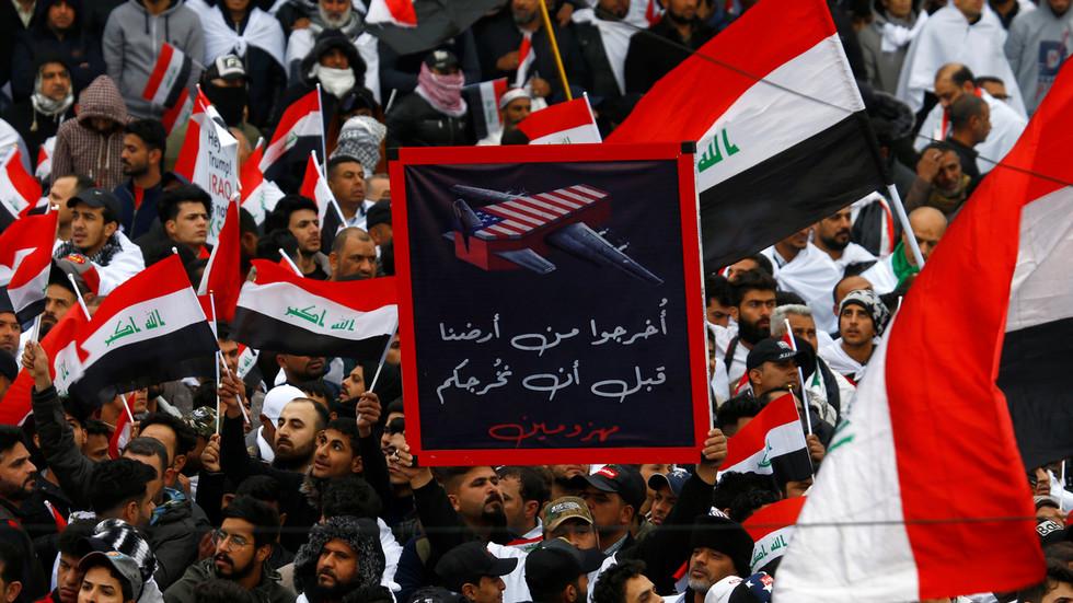 'Million-Man March' begint in Bagdad om Amerikaanse troepentrekking te eisen (VIDEO, FOTO'S)