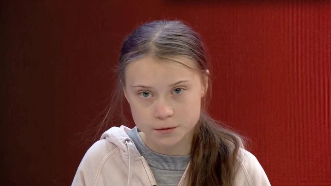 Greta Thunberg als een projectievlakGreta Thunberg als een projectievlak