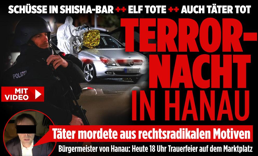 Elf doden bij twee schietpartijen in Duitse Hanau, mogelijk rechts-radicale motieven