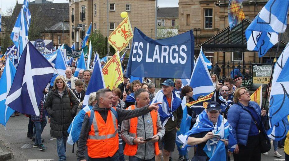 De Schotse onafhankelijkheid is zichtbaar