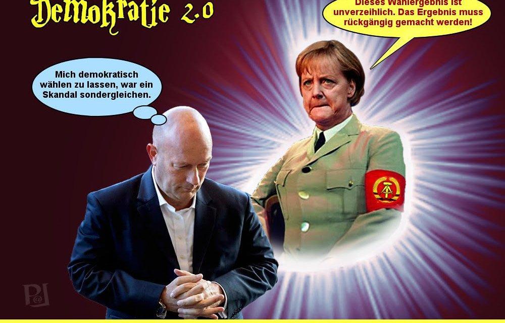 """Wij """"nazi's"""" zullen de democratie tegen u verdedigen, Dr. Merkel – ik beloof het!"""