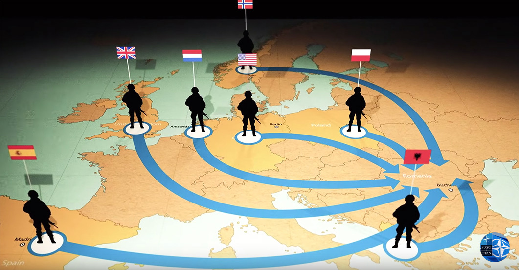 De NAVO is verantwoordelijk voor de vluchtelingencrisis