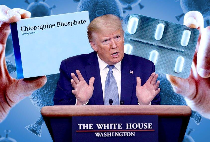 Coronavirus: Donald Trump verdedigt het gebruik van antimalariamiddelen ondanks de gerapporteerde gevaarlijke bijwerkingen