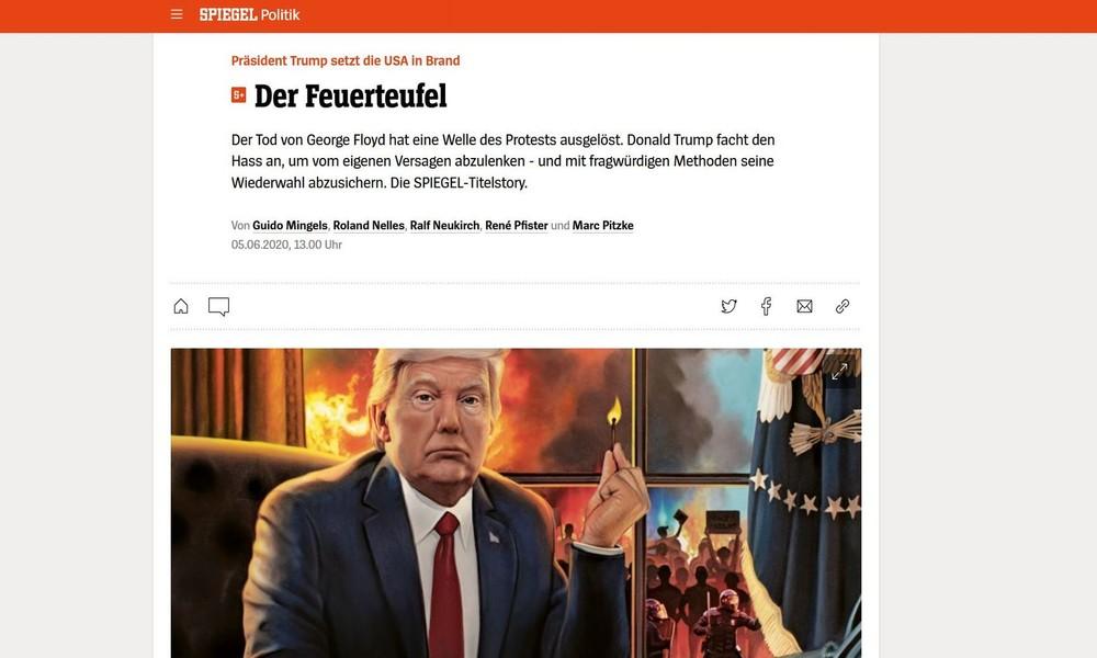 """Symptoom in plaats van ziekte – Trump als vuurduivel in de """"spiegel"""""""