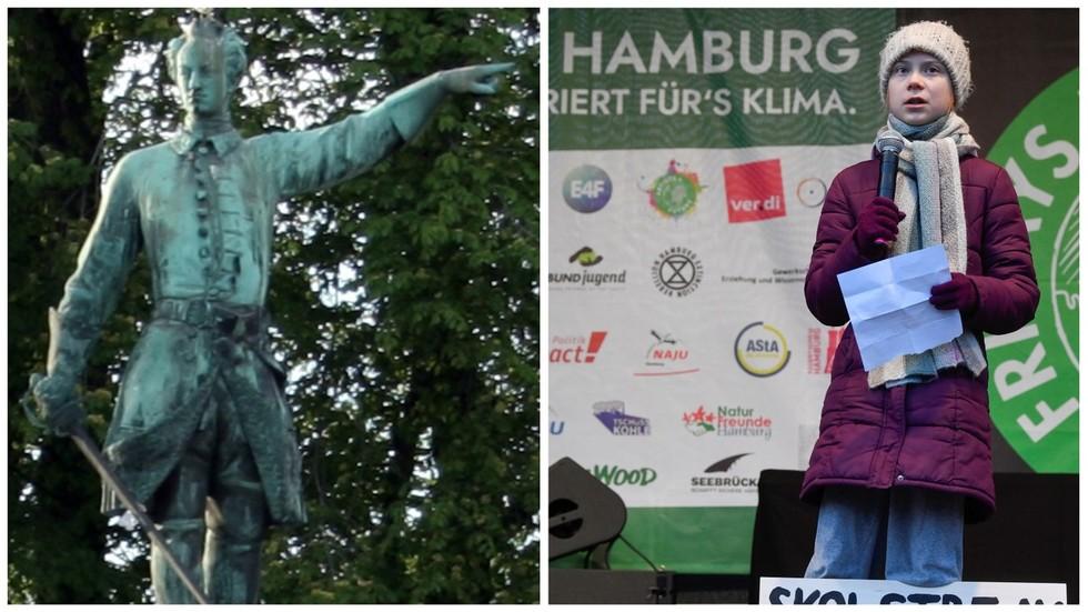 De koning is dood! Lang leve … Greta? Zweedse voormalige burgemeester roept op tot vervanging van het standbeeld van Charles XII door een van Thunberg