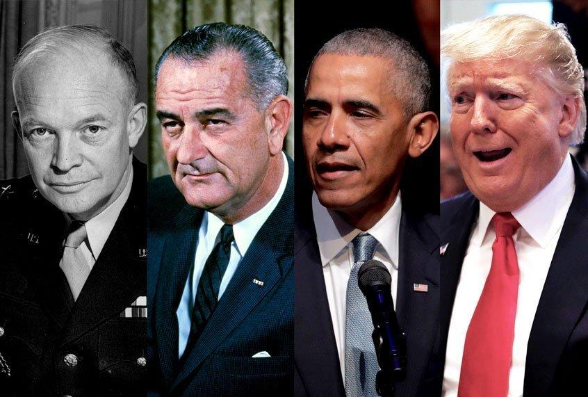 Veel presidenten hebben momenten van chaos en wanorde meegemaakt: geen enkele heeft het ooit slechter aangepakt