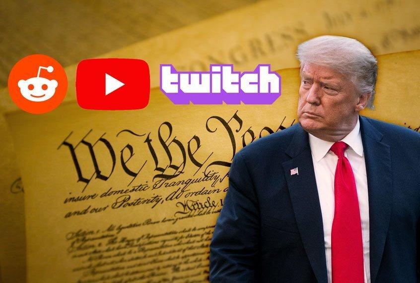 Twitch, YouTube en Reddit hebben Trump en andere racisten gestraft – en dat is geweldig voor vrijheid
