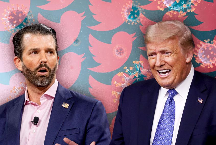 """Amerikaanse verkiezingen: Trumps zoon roept zijn vader op tot """"totale oorlog"""""""