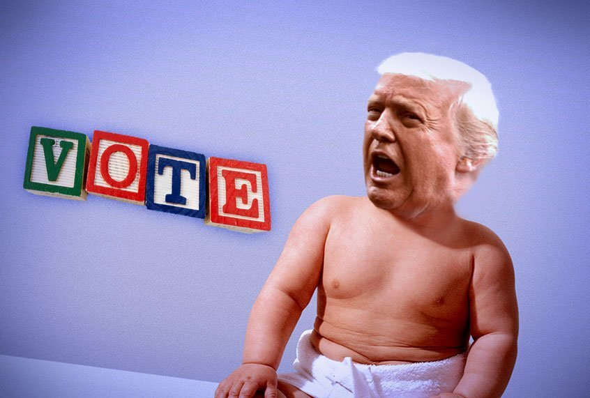 "Man-baby verplettert democratie: Daniel Drezner over onze ""Toddler in Chief"""