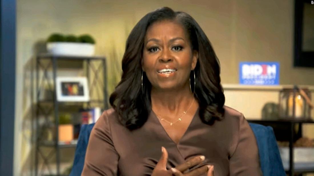 De voormalige first lady Michelle Obama voert de persoonlijke zaak tegen Donald Trump
