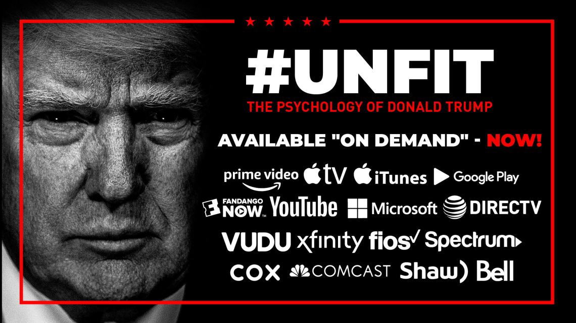NU VOOR ONZE BEZOEKERS HIER TE ZIEN: #UNFIT: THE PSYCHOLOGY OF DONALD TRUMP