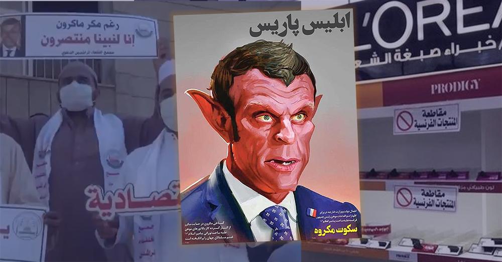 Moslims betogen massaal tegen 'Satan' Macron en eisen boycot