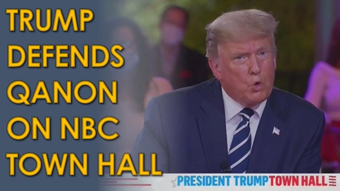 Trump weigert te zeggen dat de samenzweringstheorie van QAnon onjuist is