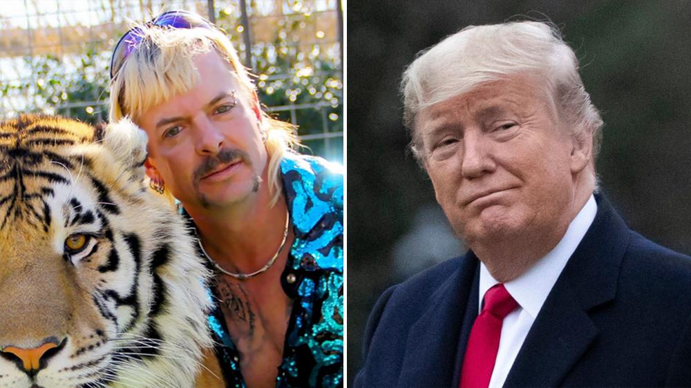 Excuseer mij? Is Trump echt van plan zichzelf, Tiger King en zijn gezin vrij te pleiten?