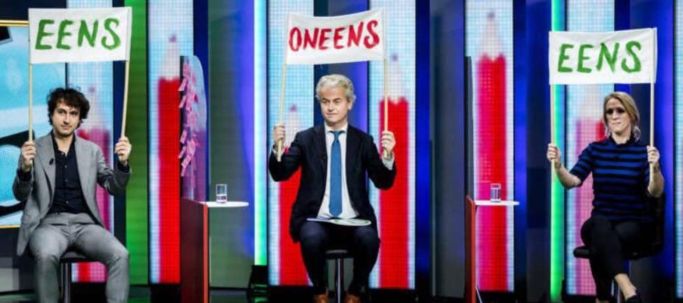 Wilders zegt tegen Rutte dat de drie grootste partijen een coalitie moeten vormen