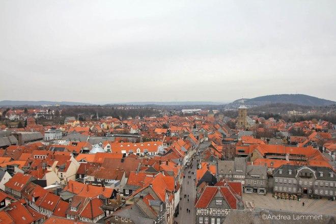 Goslar, Ein Tag in Goslar, Ansicht vom Norddturm der Marktkirche