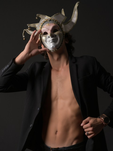 Man in a Carnival Mask