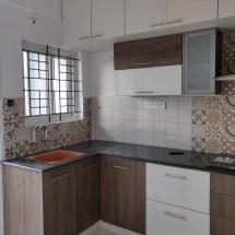 modular kitchen design, wall cabinets, bangalore interior design, hettich kitchen, loft design, pull outs, kitchen hob & chimney