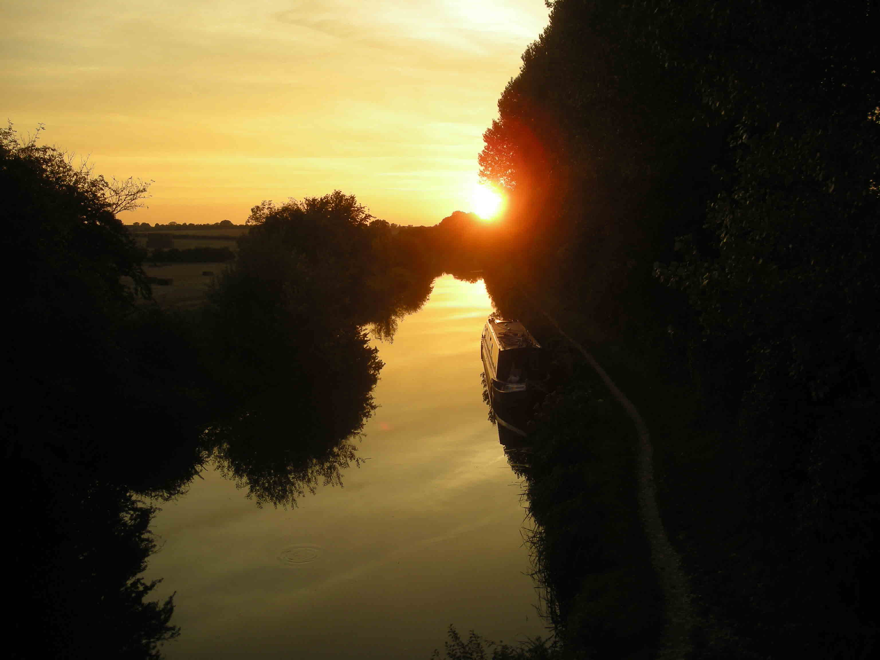 Our idyllic mooring....