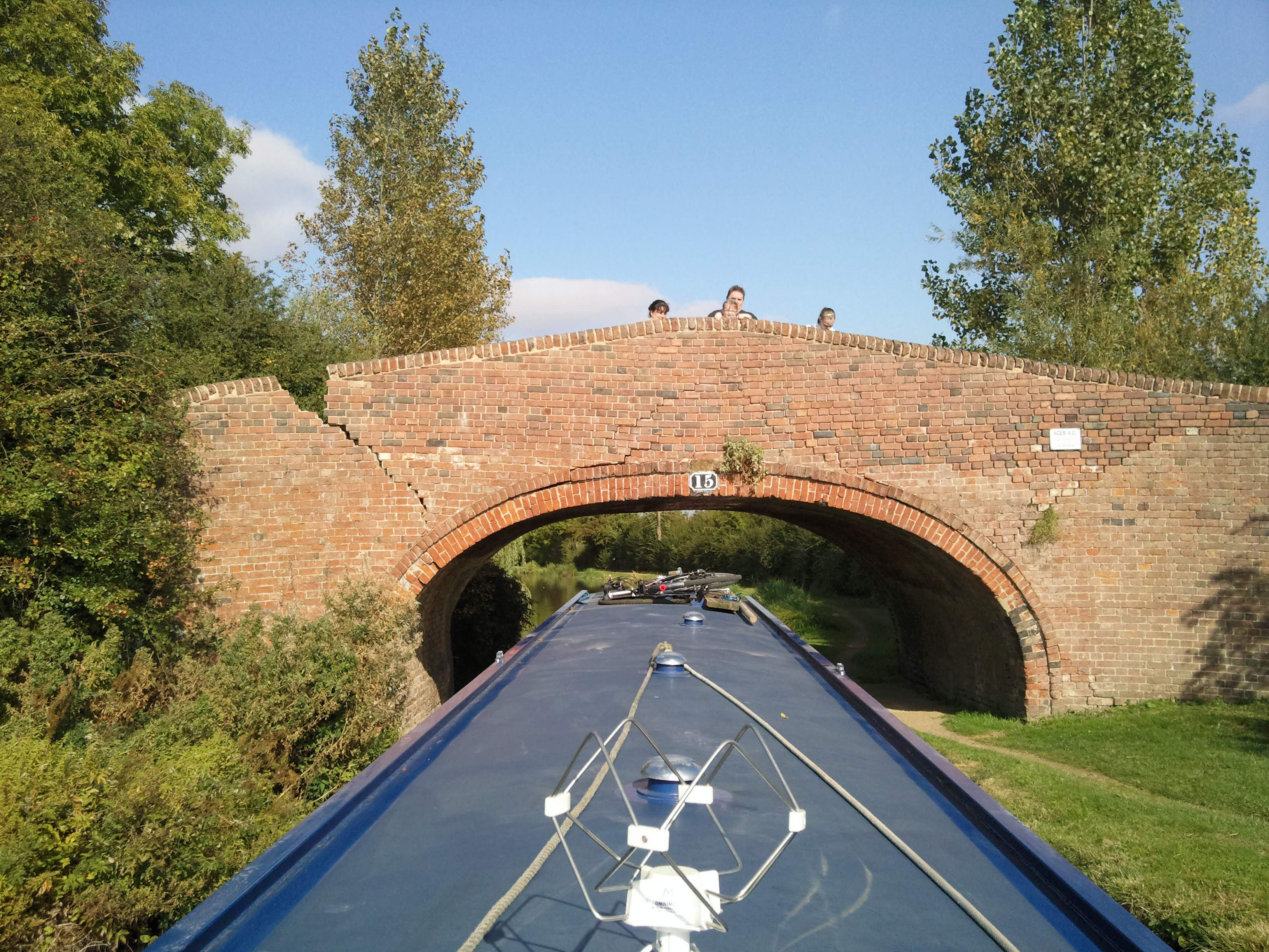 The engineers on board were very concerned about the structural integrity of this bridge - we passed under quickly...