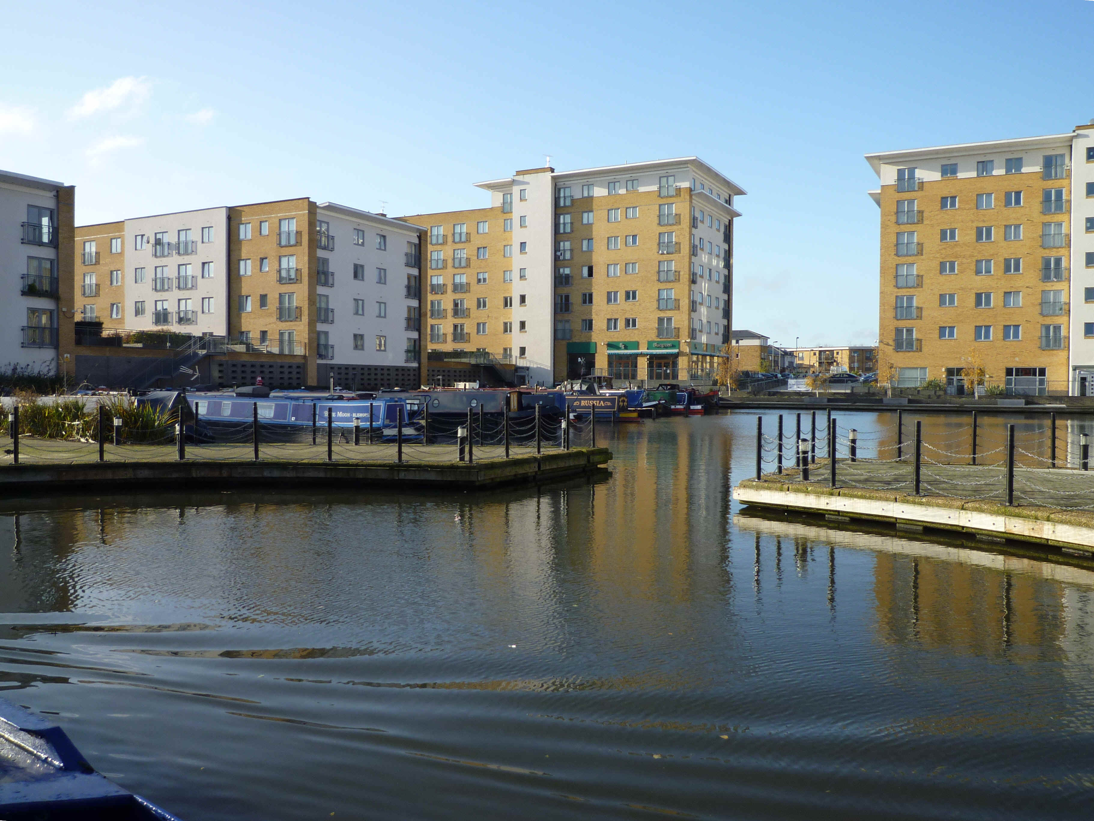 Engineer's Wharf looking very tidy indeed...