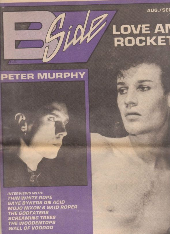 Peter Murphy B Side Magazine August 1988 Cover