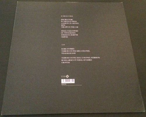 """Bauhaus In The Flat Field + 4AD UK 12"""" 2008 Back Cover"""