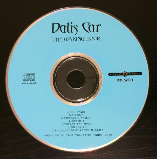 Dalis Car The Waking Hour UK CD 1988 CD