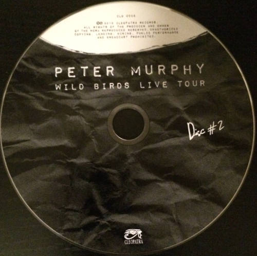 Peter Murphy Wild Birds Live Tour US CD 2015 CD2
