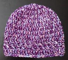 Purple & Pastel super warm beanie child/teen - small adult $20