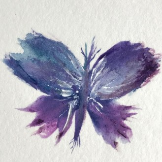 This butterly is a watercolory symbol of transformation.