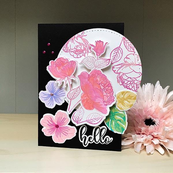 Gina K Designs Hello Floral Card