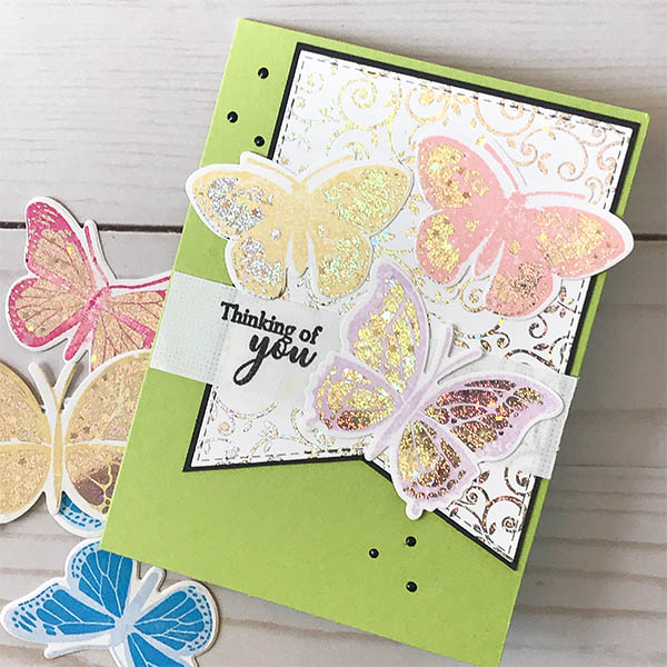 Butterfly Stamp-n-Foil Card Design