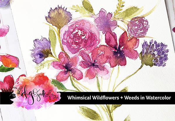 Painting Whimsical Wildflowers and Weeds