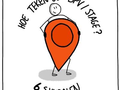 Hoe teken je een symbool voor BPV of stage 6 ideeen