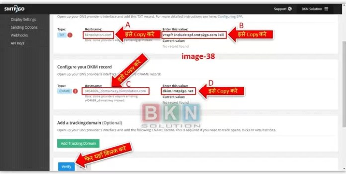 How to configure DKIM Record in SMTP2GO in Hindi