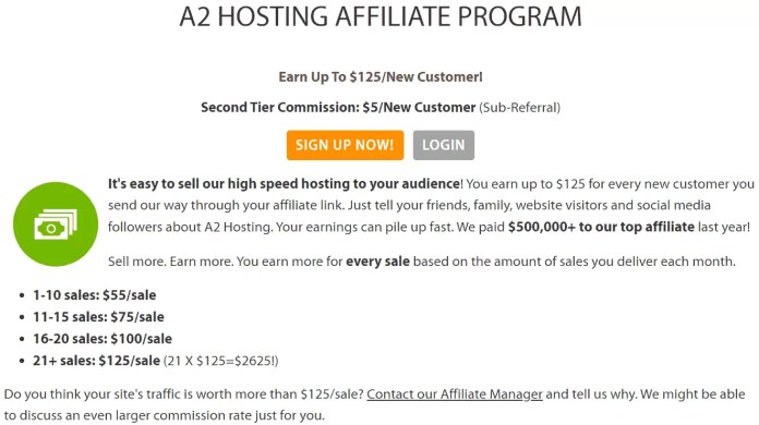 A2 Hosting Affiliate Program in Hindi
