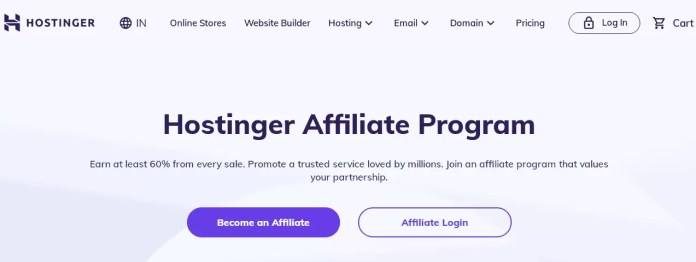 Hostinger Hosting Affiliate Program in Hindi