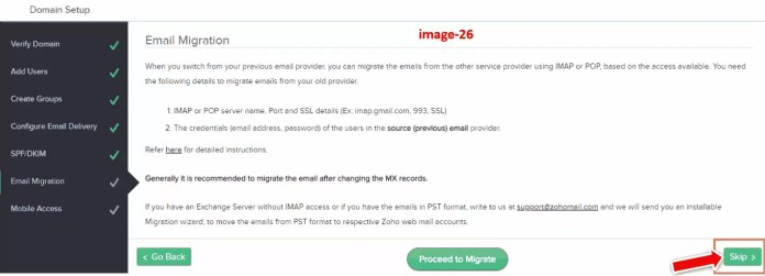 Email Migration in Zoho Mail