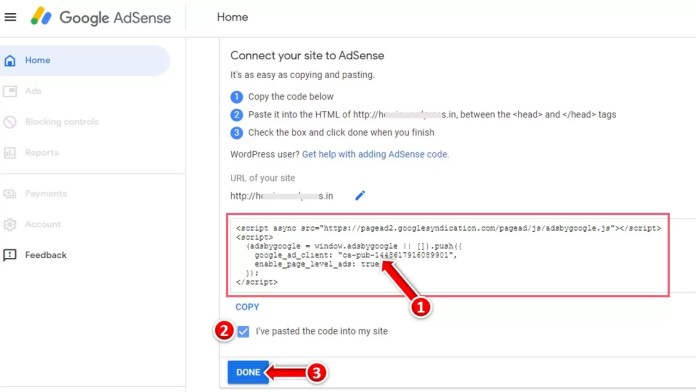 How to Connect AdSense Code in Blog in Hindi?