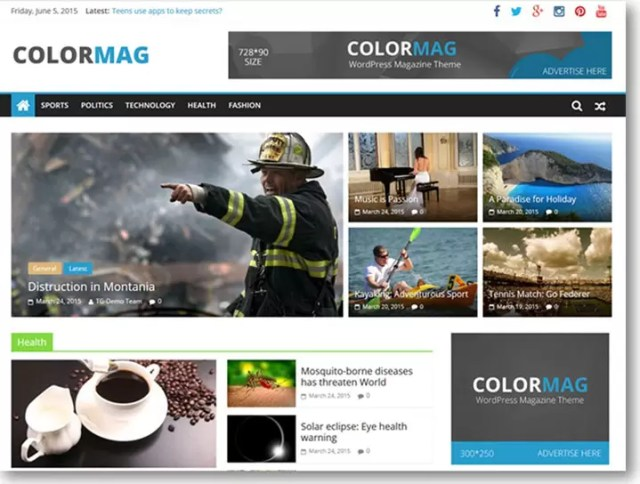 ColorMag Free WordPress Theme for Blog