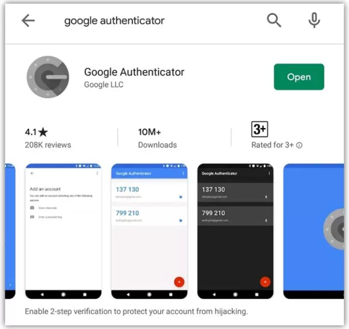 Install Google Authenticator Android App
