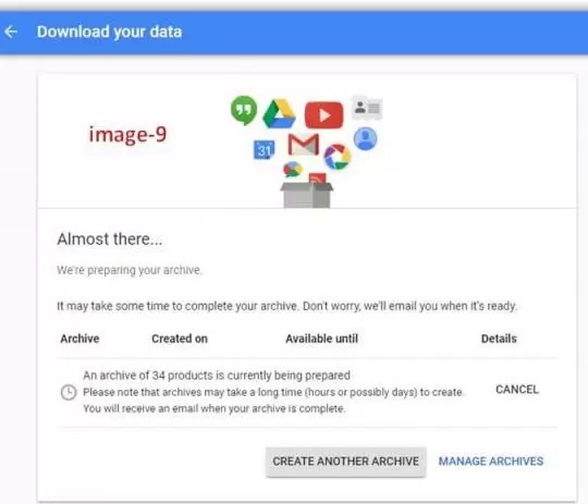 How can I download all data from Google in Hindi?