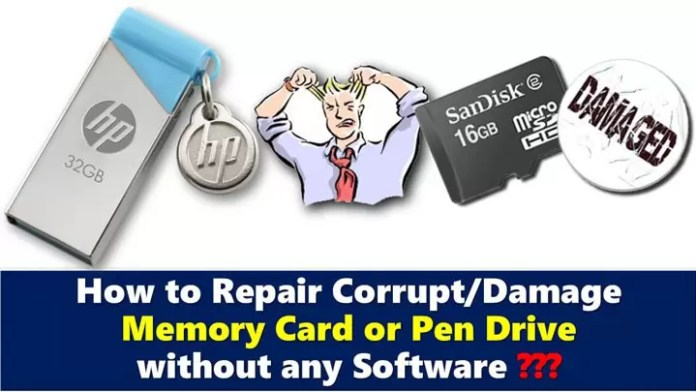 How to Repair Corrupted Pen Drive in Hindi