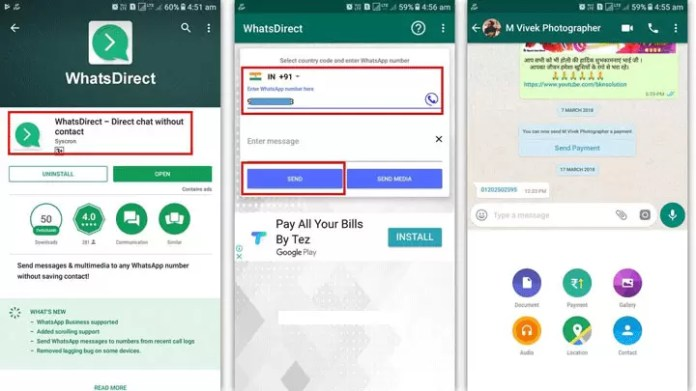 How to Send WhatsApp Message to Anyone without Saving Number in Mobile?