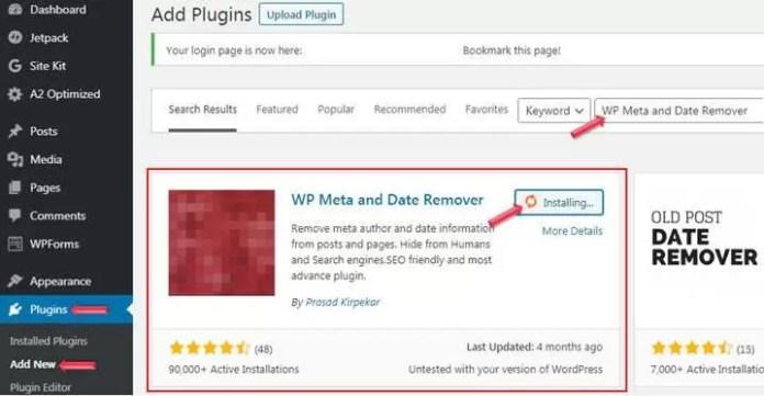 WordPress Post Se Date Hide Kaise Kare in Hindi?