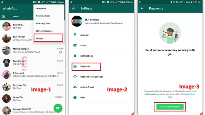 How to link bank account details in Whatsapp Pay?