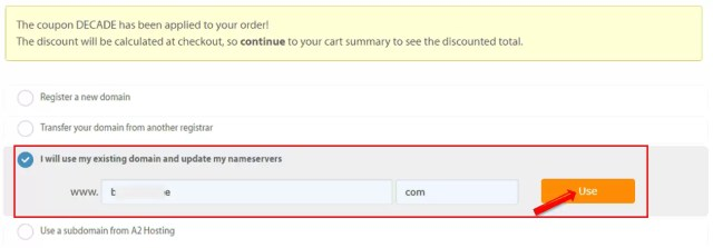 Domain Name linking Options in A2Hosting